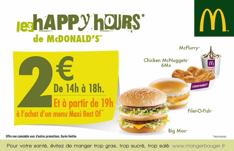 Happy hours mcdonald s for Big fish happy hour