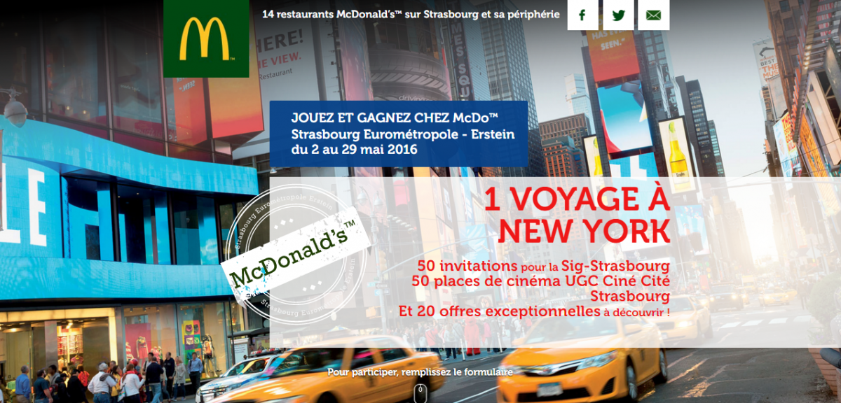 jouez et gagnez chez mcdo mcdonald s. Black Bedroom Furniture Sets. Home Design Ideas